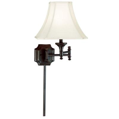 Kenroy Home Wentworth 17 in. Burnished Bronze Wall Swing Arm Lamp