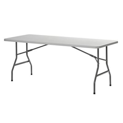 2.5 ft. L x 6 ft. W Plastic Folding Table in