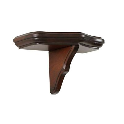 Martha Stewart Living Solutions 4.25 in. Floating Sequoia Small Ogee Curve Collector's Shelf