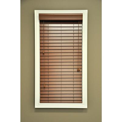QuickShip Pearl 2 in. Faux Wood Blind - 33 in. W x 64 in. L (Actual Size 32.5 in. W 64 in. L )