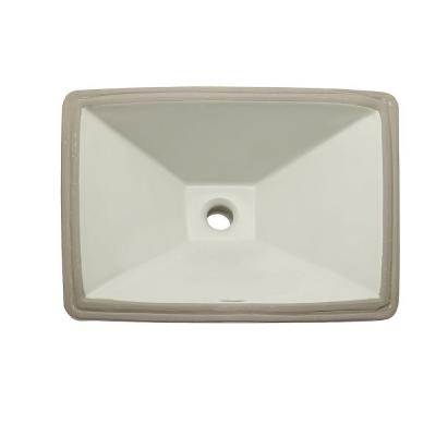 DECOLAV Classically Redefined Undermount Vitreous China Bathroom Sink in Biscuit