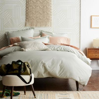 Marble Cotton Percale Duvet Cover