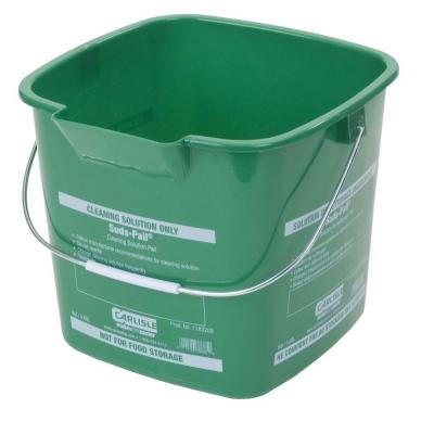 Carlisle 6 Qt. Green Suds-Pail for Cleaning Solutions (12-Case)