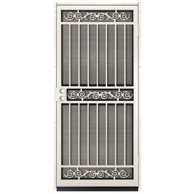 Unique home designs 36 in x 80 in sylvan almond surface for Home depot exterior screen doors