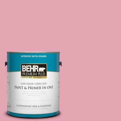 1-gal. #P140-3 Love at First Sight Satin Enamel Interior Paint