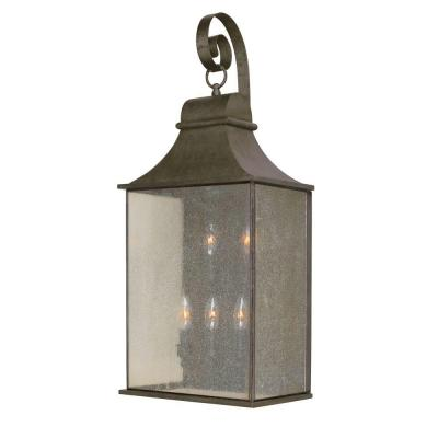 World Imports Dark Sky Revere Collection 14 in. 5-Light Outdoor Wall Lantern in Flemish