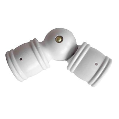 Curtain Rods corner connector for curtain rods : Martha Stewart Living 1-3/8 in. Wood Corner Connector in White-33 ...
