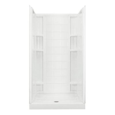Ensemble 35-1/4 in. x 36 in. x 77 in. Shower Kit in White Product Photo