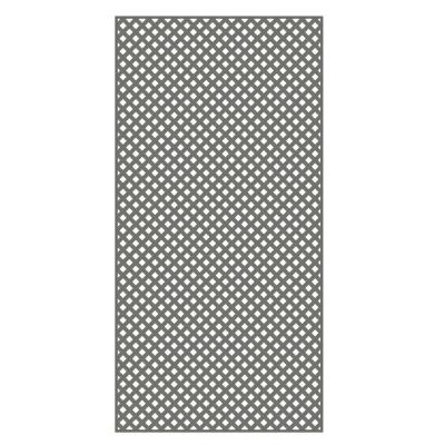 Veranda 0.2 in. x 4 ft. x 8 ft. Nantucket Gray Vinyl Privacy Diamond Lattice