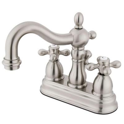 Victorian 4 in. Centerset 2-Handle Bathroom Faucet in Satin Nickel Product Photo