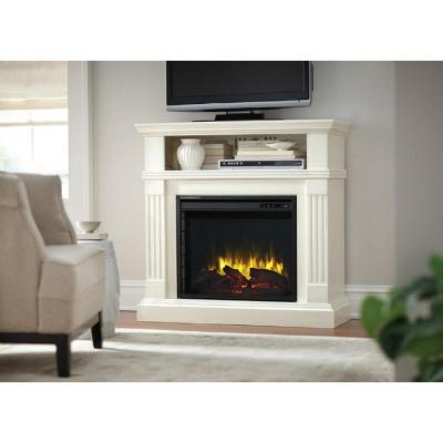 Home Decorators Collection Edison 40 In Convertible Media Console Electric Fireplace In