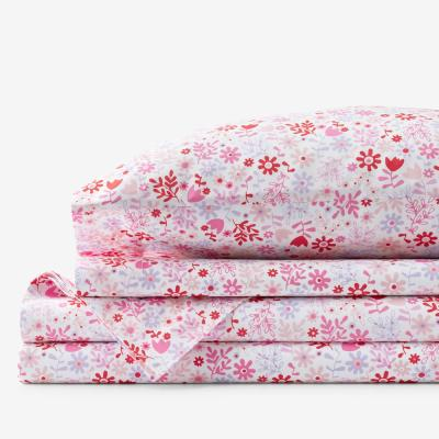 Company Kids? Flower Shower Multicolored Floral 200-Thread Count Organic Cotton Percale Sheet Set