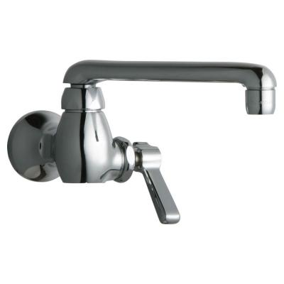 Chicago Faucets 1-Handle Kitchen Faucet in Chrome with 6 in. S Type Swing Spout