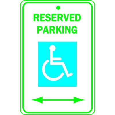 Brady 18 in. x 12 in. Aluminum Reserved Parking Handicapped Sign