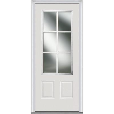 32 in. x 80 in. Simulated Divided Lite Clear Glass 3/4