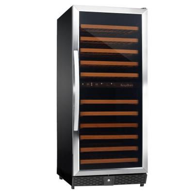 24 in. 120-Bottle Dual Zone Wine Cooler in Stainless Steel