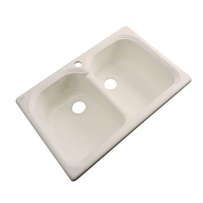 Hartford Drop-In Acrylic 33 in. 1-Hole Double Bowl Kitchen Sink in