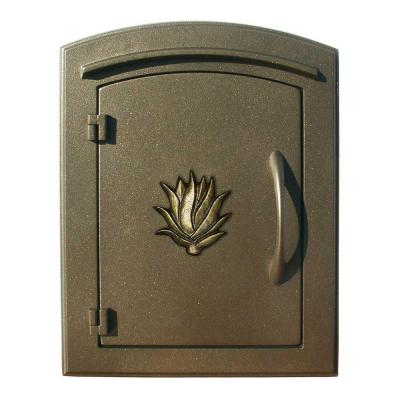 Bronze Non-Locking Column Wall Mount Mailbox Product Photo