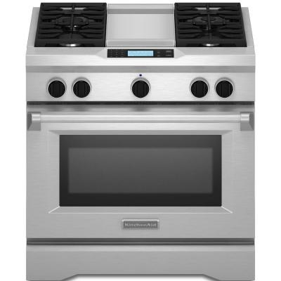 Commercial-Style 36 in. 5.1 cu. ft. Dual Fuel Range with Self-Cleaning