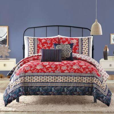 Marbella 5-Piece Red Comforter Set