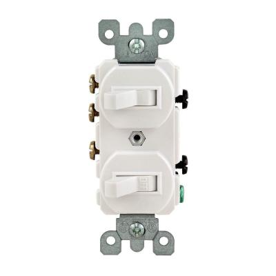 Leviton 15  3Way Double Toggle Switch R62052410WS At The Home besides Page15 likewise Watch additionally  in addition How To Install A 220 Volt Outlet. on wiring diagram for dual switch one light
