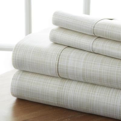 Thatch Pattern Stripes & Plaids Microfiber Sheet Set