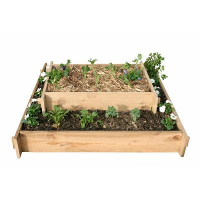 null 5 Ft. x 5 Ft. Plus 2 Ft. x 3 Ft. Shaker Style Raised Container Gardening - Cascading Beds-DISCONTINUED