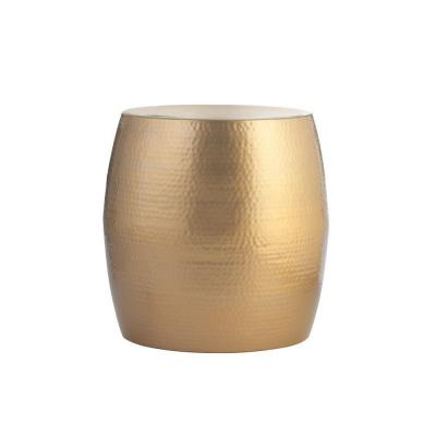 Baylee Drum Shiny Gold Accent Table Product Photo