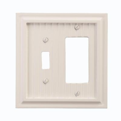 Amerelle Cottage 1 Toggle 1 Decora Wall Plate - White