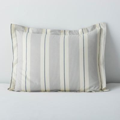 Wide Stripe Yarn Dyed 200-Thread Count Cotton Percale Sham