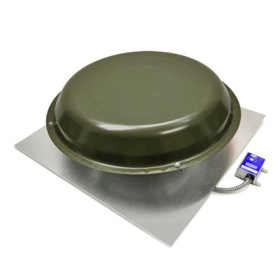 1250 CFM Power Roof Mount Vent in Weatherwood Product Photo