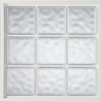 42 in. x 42 in. Acrylic Block Fixed Vinyl Window -