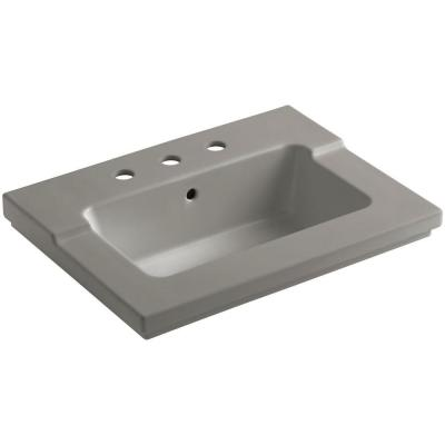 KOHLER Tresham 25-7/16 in. Vitreous China Single Basin Vanity Top in Cashmere with Cashmere Basin