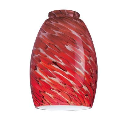 6-1/4 in. Handblown Chili Pepper Shade with 2-1/4 in. Fitter and