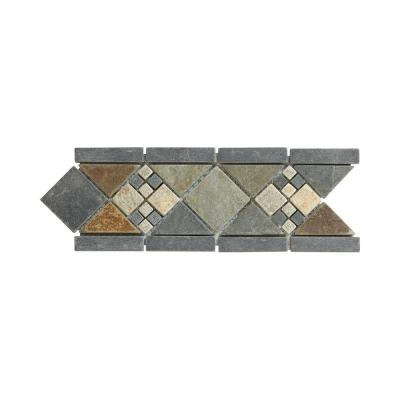 Yacht Harbor 4 in. x 12 in. x 8 mm Slate Strip Wall Accent Product Photo