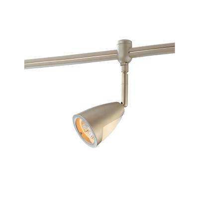 Hampton Bay Flex Track Head Brushed Steel with Metal/Glass Shade