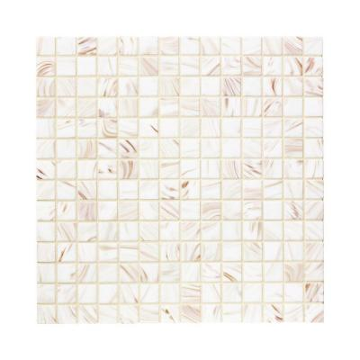 Jeffrey Court Pearl Glaze 12 in. x 12 in. x 4 mm Glass Mosaic Wall Tile
