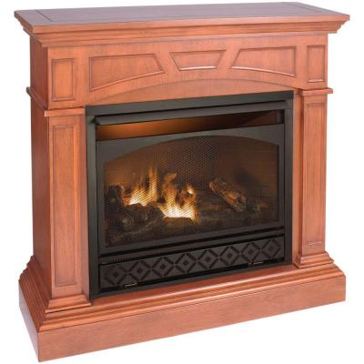 Procom 47 In Vent Free Dual Fuel Gas Fireplace In Heritage Cherry With Remote Pcfd32rt M Hc