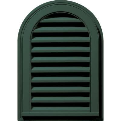 14 in. x 22 in. Round Top Gable Vent #028 Forest Green Product Photo