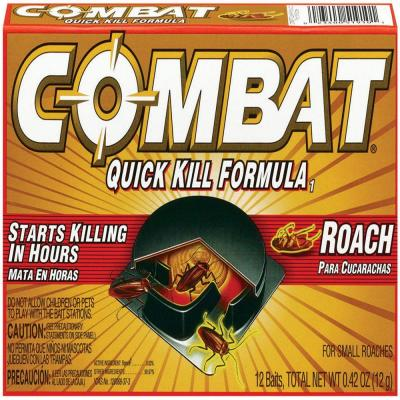 COMBAT Ready-to-Use Quick-Kill Formula Small Roach Traps (12-Pack)