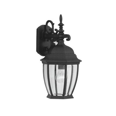 Designers Fountain Hallowell Collection Wall Mounted Outdoor Black Lantern