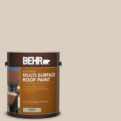 BEHR 1-gal. #RP-13 Camelstone Flat Multi-Surface Roof Paint