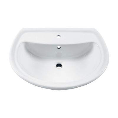 American Standard Cadet 6 in. Pedestal Sink Basin with Center Hole Only in White