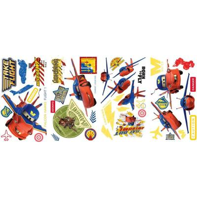 null 10 in. x 18 in. Cars - Air Mater 44-Piece Peel and Stick Wall Decals-DISCONTINUED