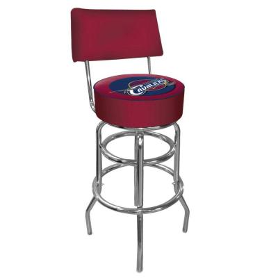 Cleveland Cavaliers NBA Padded Swivel Bar Stool in Back