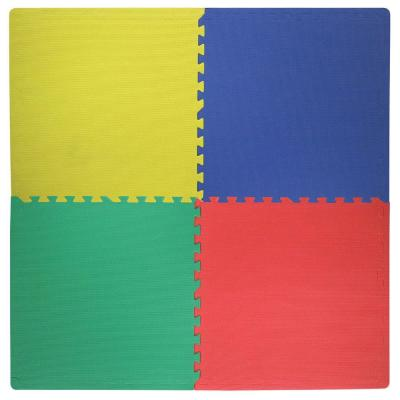 Best Step Primary-Color 2 ft. Square Interlocking Foam Mats (4-Pack)