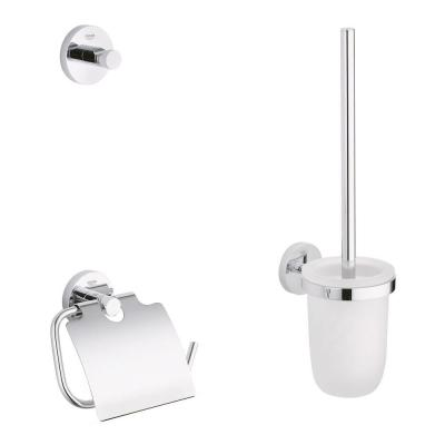 Essentials Guest Bathroom 3-in-1 Accessory Kit in StarLight Chrome
