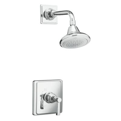 Pinstripe Pure Rite-Temp Pressure-Balancing 1-Handle Shower Faucet Trim in Polished Chrome (Valve Not Included) Product Photo