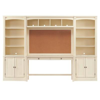 Edinburgh 113 in. W x 78 in. H Office Center in White Product Photo