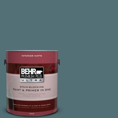 BEHR Premium Plus Ultra Home Decorators Collection 1-gal. #HDC-CL-22 Sophisticated Teal Flat/Matte Interior Paint